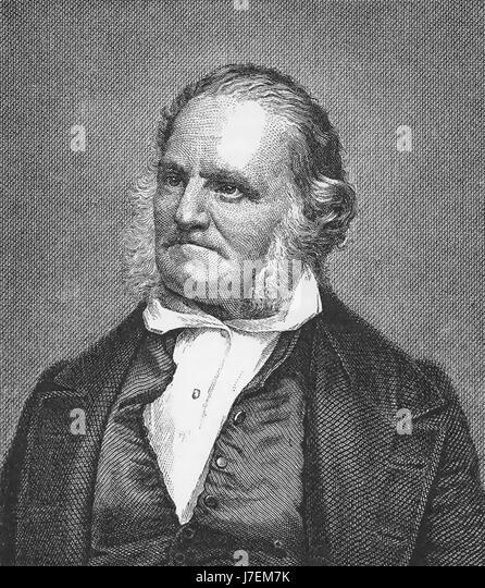 JOHN JAMES AUDUBON (1785-1851) Franco-American naturalist, ornithologist and painter about 1850 - Stock-Bilder
