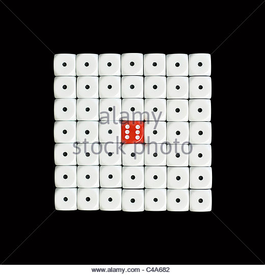 dice in square - Stock Image