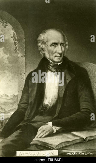 William Wordsworth - English poet 1770-1850. - Stock Image
