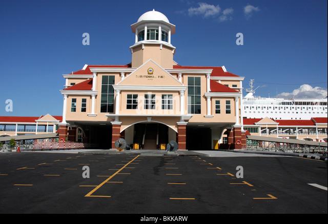Swettrenham Pier Cruise Terminal,George Town,penang,malaysia - Stock-Bilder