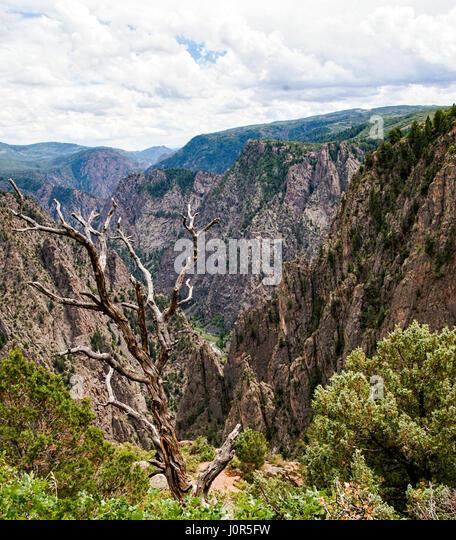 Black Canyon of the Gunnison National Park. Colorado - Stock Image