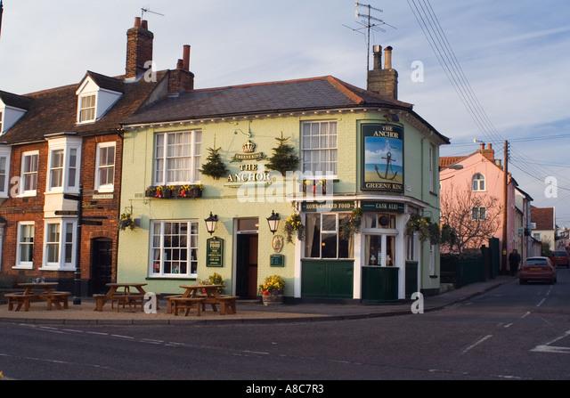 The Anchor Pub Woodbridge Suffolk England - Stock Image