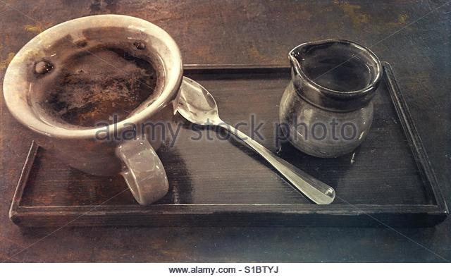 A cup of coffee' - Stock Image