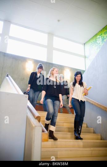 Students on the go - Stock-Bilder