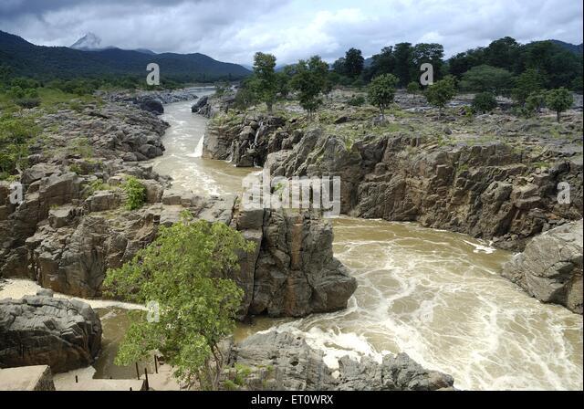 Kaveri river after Hogenakkal falls going towards Mettur dam   Tamil
