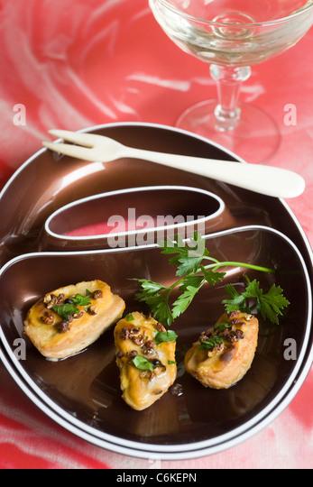 Rognon blanc with mustard - Stock-Bilder