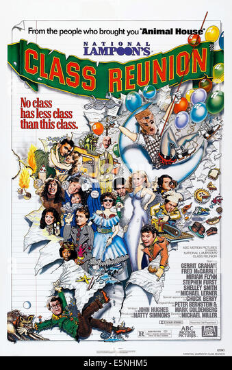 NATIONAL LAMPOON'S CLASS REUNION, U.S. poster, Gerrit Graham (left of woman in blue gown), 1982. ©20th - Stock Image