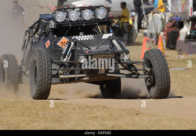 Jun 06, 2009 - Valle de la Trinidad, Baja Norte, Mexico - MIKE LAWRENCE, winner of Class 10 (Single- or two-seaters - Stock Image