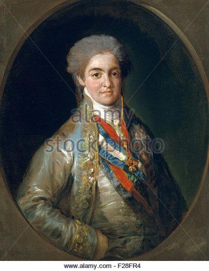 Francisco de Goya - Ferdinand VII, When Prince of Asturias - Stock Image