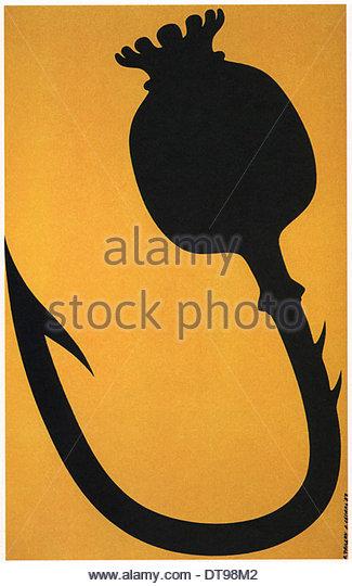 Anti-drugs poster, 1987. Artist: Faldin, Alexander Vladimirovich (*1953) - Stock Image