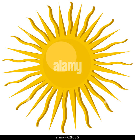 Sun icon - Stock Image