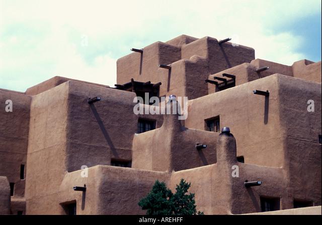 Santa Fe New Mexico Classic Adobe Architecture - Stock Image