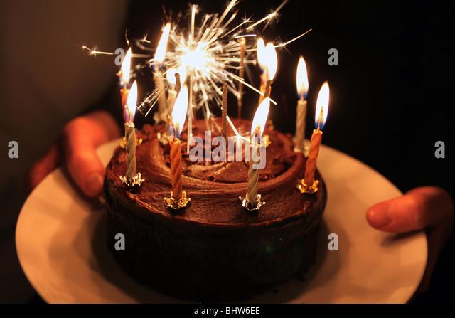 Celebration cake - Stock Image
