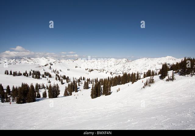 Ski resort in utah usa - Stock Image
