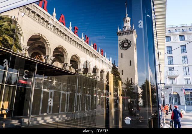 Sochi railway station - Stock Image