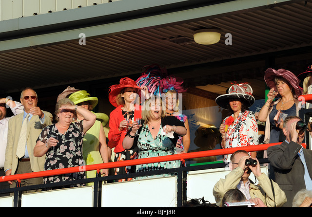 Ladies Night at Wolverhampton Racecourse - Stock Image