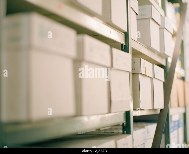 storage boxes - Stock Image