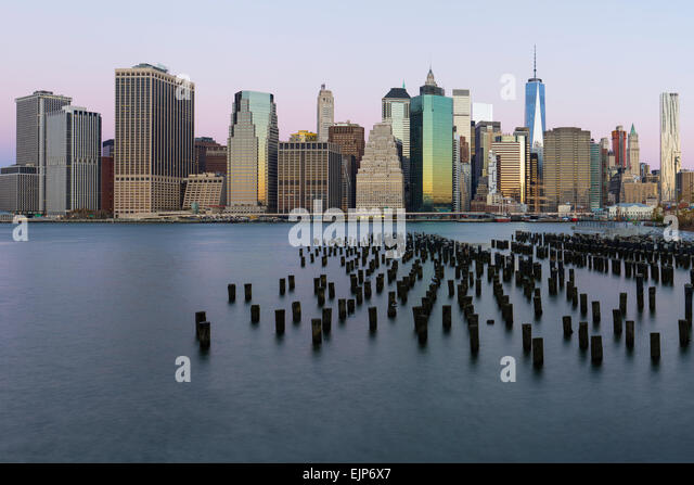 USA, New York City, Downtown Manhattan Financial district, One World Trade Center (Freedom Tower) - Stock Image