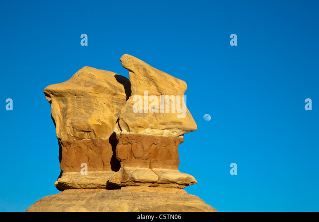 USA, Utah, Grand Staircase Escalante National Monument, Devils Garden, Rock formation - Stock Image