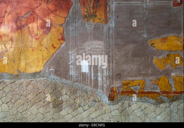 antiquity Archaeological site archaeology architecture beautiful Bel belle bury Campania casa color image cortile - Stock-Bilder
