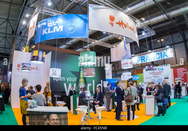 Madrid, Spain. 20th January, 2016. Fitur, International Travel and Tourism Fair, at IFEMA, Stand Holland. Credit: - Stock Image