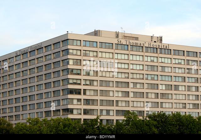 St Thomas hospital London - Stock Image