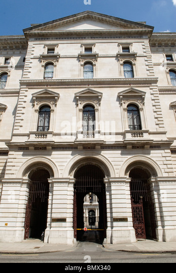 Foreign Office and Commonwealth offices Kings Charles Street Whitehall. London UK - Stock Image