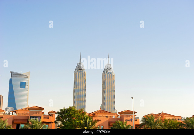 High-rise buildings, downtown Dubai, Dubai, United Arab Emirates, Middle East - Stock-Bilder