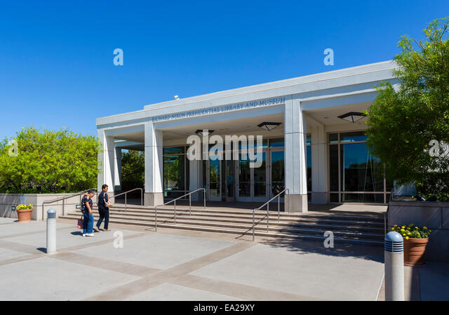 The Richard Nixon Presidential Library and Museum, Yorba Linda, Orange County, near Los Angeles, California, USA - Stock Image