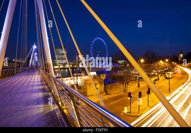 Modern Bridge In London - Stock Image