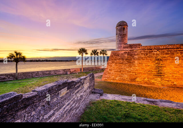 St. Augustine, Florida at the Castillo de San Marcos National Monument. - Stock-Bilder