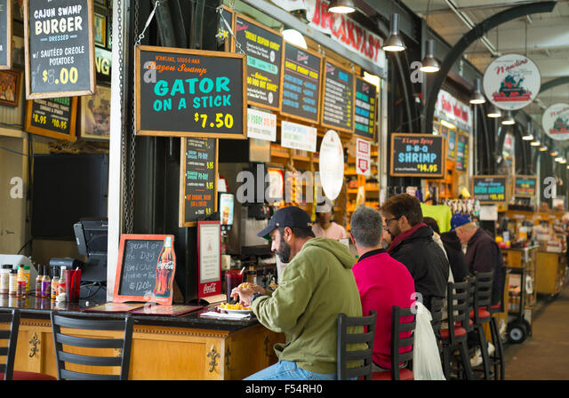 Historic french market stock photos historic french for Food bar new orleans