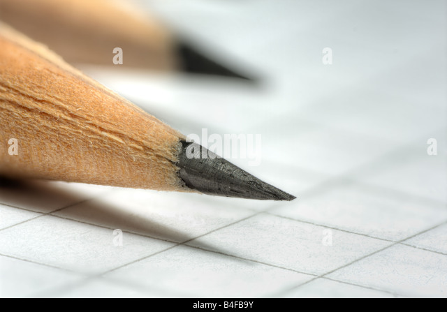 Pencil tip - Stock Image