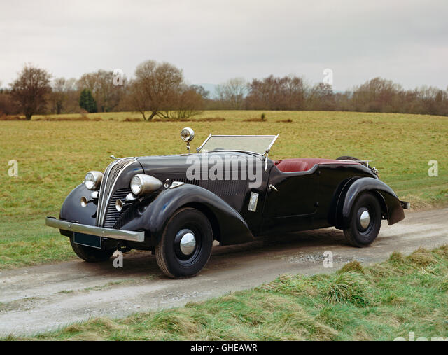 1937 Hudson Eight Century 2 door convertible sports tourer Country of origin United States - Stock Image