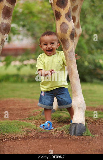 A 3 year old indian boy - Stock Image