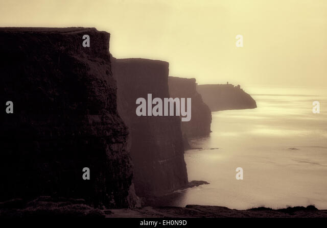 Cliffs of Moher at sunset Ireland - Stock-Bilder