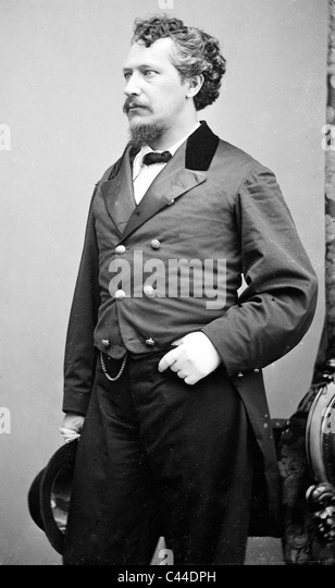 GEORGE FRANCIS TRAIN (1829-1904) eccentric American inventor and writer - Stock Image