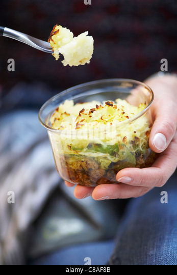 Sausage meat,ham and cabbage pie - Stock Image
