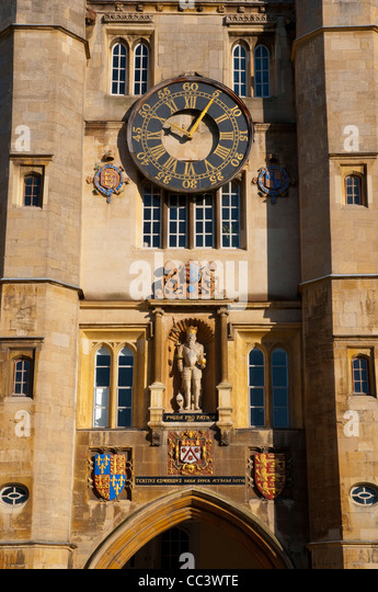 UK, England, Cambridge, Cambridge University, Trinity College, Great Court - Stock-Bilder