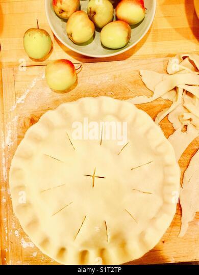 Homemade apple pie - Stock Image