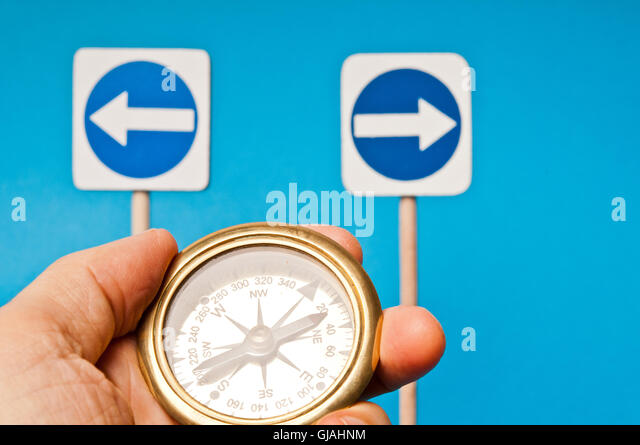 choices and decisions concept - Stock Image