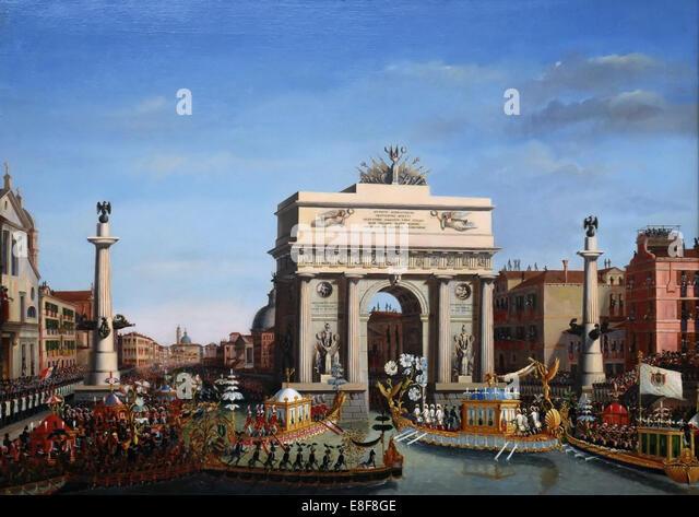 The Entry of Napoleon into Venice on the 29th of November 1807. Artist: Borsato, Giuseppe (1771-1849) - Stock Image