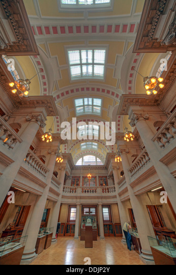 Liverpool central library Hornby rooms - Stock Image
