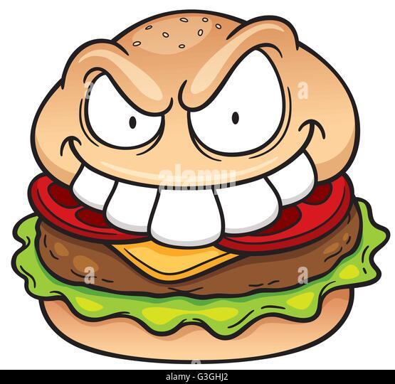 Sponge Bob Eating Doritos Colroing In: Cartoon Burger Stock Photos & Cartoon Burger Stock Images