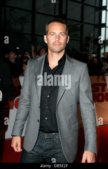 Paul Walker attends the French premiere of 'Fast and Furious 5: Rio Heist' Marseille, France - 28.04.11 - Stock Image