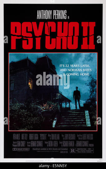 PSYCHO II, US poster, 1983, © Universal/courtesy Everett Collection - Stock Image