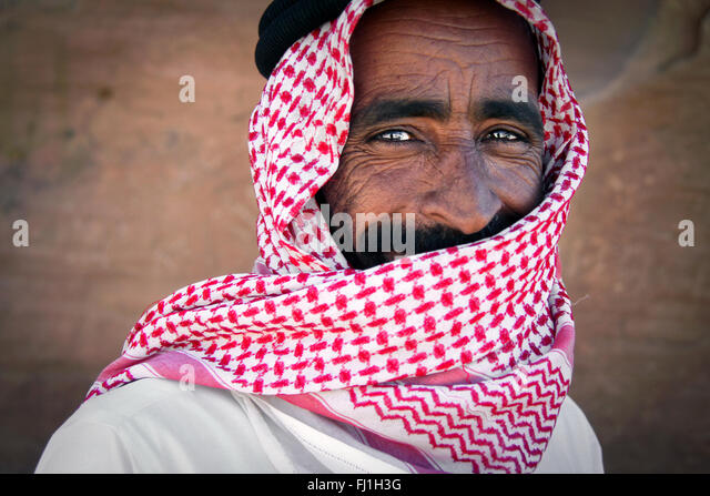 Jordan people portrait - Stock Image