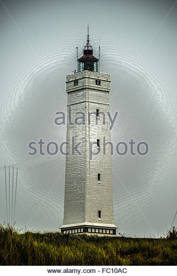 lighthouse, artistically worked - Stock-Bilder