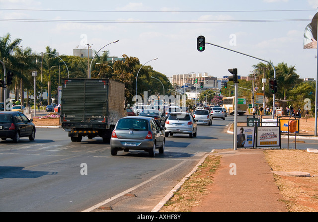 W3 North Avenue, Brasilia, Brazil - Stock Image