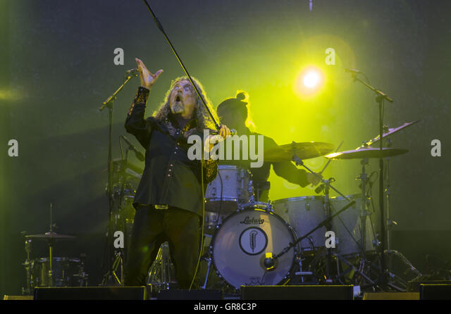 Robert Plant And The Sensational Space Shifters At Pori Jazz 2015 - Stock Image